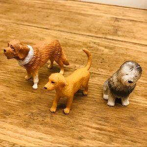 Animal Figurines Dogs (3) Bundle Kids Toys